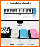 Piano digital flexível flexível com teclado Soft Silicon 88 teclas com porta USB para PC