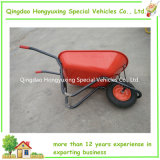 Contractor100L resistente Wheelbarrow Wheelbarrow Wb8618 con Pneumatic Wheel