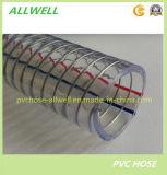Manguera plástica del espiral del agua del manguito de la succión del alambre de acero del PVC