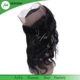 Peruca do laço de 360 Frontal com cabelo humano de Remy da onda brasileira ajustável da correia