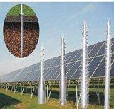 Pile de soudure de vis galvanisée par vis au sol avec la bride pour solaire