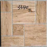 Azulejo de suelo rústico de la mirada de madera de la inyección de tinta