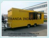 China New Design Mochila Towable Snack Fast Food Carts