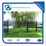 Puertas tubulares decorativas galvanizadas cubiertas del polvo negro y cerca de acero del jardín de la cerca