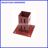 Quadratische Pfosten-Halter-Pole-Anker-Stahlplatte 150mm