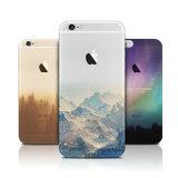iPhone аргументы за задней части взгляда ландшафта силикона способа прозрачное