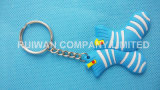 3D PVC respetuoso del medio ambiente Slipper Keychain en Souvenir