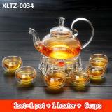 POT di vetro del bello di disegno di tè articolo da cucina di vetro dell'insieme con il filtro