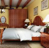 固体木のベッドの現代ダブル・ベッド(M-X2256)