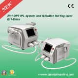2000W Powerful IPL Hair Removal en Qswitch Nd YAG Tattoo Remove Machine