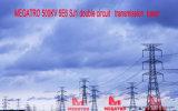 Doppia torretta della trasmissione del circuito di Megatro 500kv 5e6 Sj1