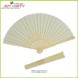 Color contínuo Silk Hand Fan para Wedding Gift Favor