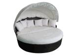 Divan sectionnel d'arrière-cour de rotin du bâti Hz-Bt105 de rotin de patio de sofa en osier extérieur de meubles réglé - mer bleue