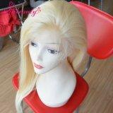 Da beleza brasileira do cabelo humano do Virgin da forma peruca cheia do laço