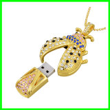 Mecanismo impulsor del flash del USB de la joyería del disco de destello del USB de Crytal