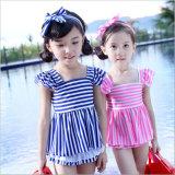 Vêtements de bain bleus de mode de gosses de petites filles