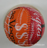 Le base-ball en caoutchouc de base-ball de faisceau de logo de faisceau fait sur commande de liège