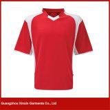 V T-shirt d'impression de collet pour l'été (R20)