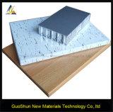 Panneau en aluminium de nid d'abeilles découpé par bois de fabrication de la Chine
