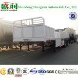 Remorque chaude de mur latéral de 80 tonnes semi/de cargaison remorque semi