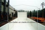 Approved трейлер тележки бортовой стены Axles 33ton ISO CCC 3 с рамкой холстины