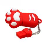 Bären-Tatze USB-Blitz-Laufwerk kundenspezifisches Karikatur-Feder-Laufwerk