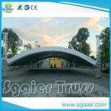 Tronco de fenda Truss de telhado circular Revestimento de fachada de PVC