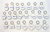 Großhandelspreis-Form Keychain bedruckbarer MDF-Schlüsselring