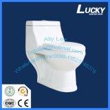 Toilette sanitaire d'une seule pièce de lavage à grande eau d'articles de carte de travail de toilette en céramique arabe