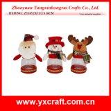クリスマスの装飾(ZY14Y600-1-2)のモデル位置のクリスマスチョコレート瓶の装飾