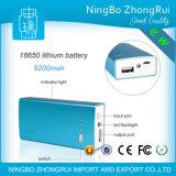 Batería de calidad superior de la potencia 5200mAh con el color rojo púrpura blanco del negro de la antorcha del LED disponible