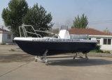 Barco de motor de /Speed do barco dos esportes da fibra de vidro de China Aqualand 15feet 4.6m/do barco de pesca/barco do Panga com estabilizador lateral (150c)