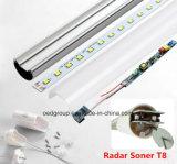 9W 900lm 0.6meter T8 LED Gefäß mit Radar-Fühler und mit Cer RoHS