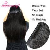 Pelo humano camboyano rizado profundo de la Virgen de la armadura el 100% del pelo de la alta calidad