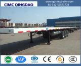 Cimc 3半Fuwa/BPWの車軸骨組シャーシ40FTの平面の容器のトレーラー