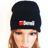 100%Acrylic, связанный Beanie связанный шлемом