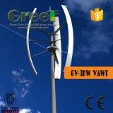 De kleine Verticale Turbine van de Wind! De dak-opgezette Verticale Generator van de Wind, de Binnenlandse Verticale Generator van de Wind van de As