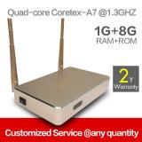 Service androïde du support OEM/ODM du cadre Q1 du faisceau mini TV de la quarte Rk3128
