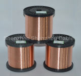 Fio de alumínio folheado de cobre redondo, liso, quadrado & retangular