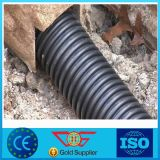 Tubo negro plástico de Drainge de la irrigación del PE del goteo
