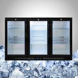 Refrigerador triple de la botella de la puerta de la visualización
