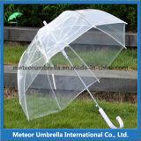 Guarda-chuva transparente desobstruído aberto do presente de Promtion da bolha do automóvel reto