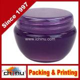 10g, purpurrote bereifte Behälter-Gläser der Qualitäts-10ml mit innerer Zwischenlage für Verfassung, sahnt, kosmetische Schönheits-Produkt-Proben - freies BPA