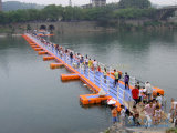 浮遊舟橋の使用される手すり