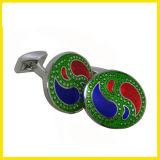 Blauwe, Rode en Groene Ovale Cufflink van de Hoogste Kwaliteit