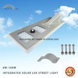 Luz de calle solar integrada comercial 50W con el regulador de MPPT