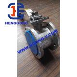 Válvula de esfera da bolacha do aço de carbono de Wcb da flange do petróleo de DIN/ANSI