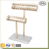Présentoir personnalisé par vente en gros de collier et de boucle d'oreille en métal de bonne qualité