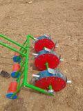 3개의 줄 3 바퀴 수동 파종기 손 옥수수 파종기 기계