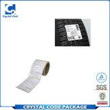 El calor de encargo resiste la escritura de la etiqueta adhesiva fuerte de la etiqueta engomada del neumático del animal doméstico
